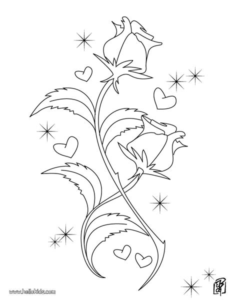 free printable coloring pages of a rose kids coloring pages valentine day roses printable