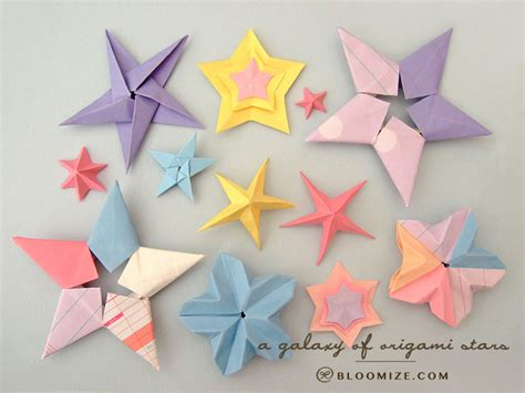 Origami Starts - galaxy of origami bloomize