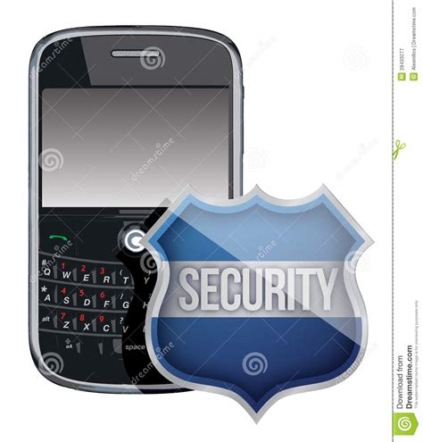 mobile phone security software mobile phone security shield stock illustration