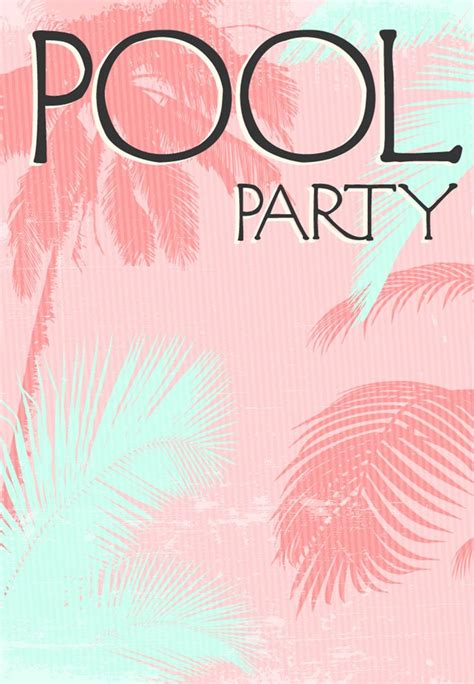party invitation templates pool party invitations
