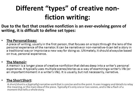 How To Write A Creative Nonfiction Essay by Exle Of A Creative Nonfiction Essay