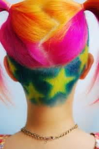 colored undercut multi colored hair multi colored hair