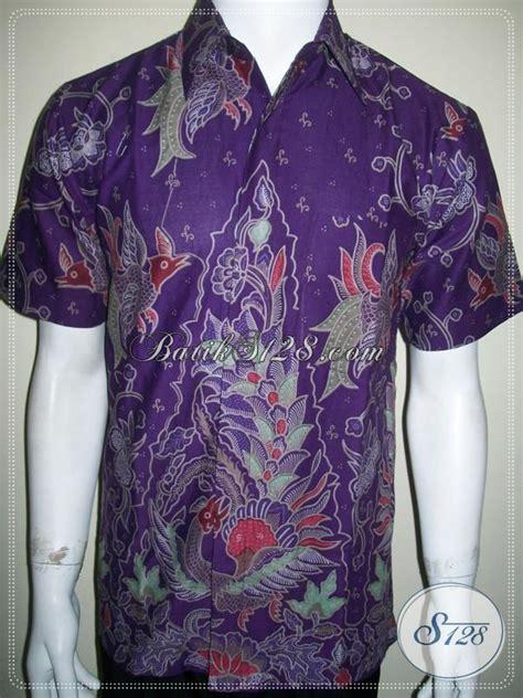Baju Batik Warna Ungu Baju Batik Pria Warna Ungu Keren Dan Elegan Harga Murah