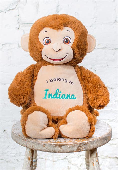 personalized monkey teddy personalized teddy bears cubbies