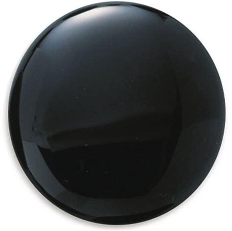 black onyx black onyx 20mm round cabochon