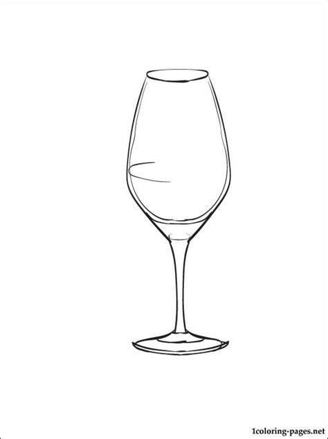 Wine Glass Coloring Page free coloring pages of wine glass