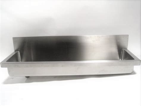 plumbing sink industrial commercial trough style drains