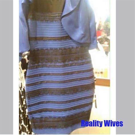 Meme Dress - blue and gold dress black or white