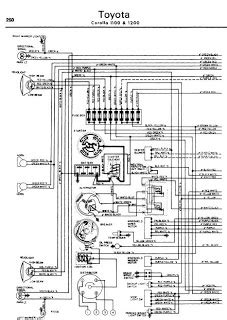 toyota crown 1100 1200 1962 70 wiring diagram