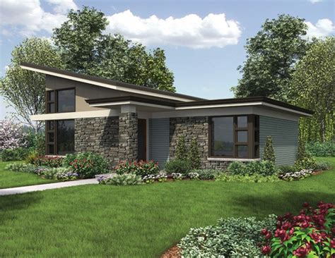 Eplans Contemporary Modern House Plan Compact One Www Eplans House Plans