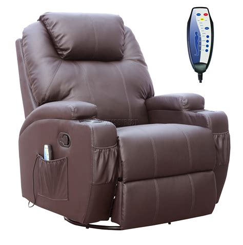leather recliner swivel chairs foxhunter bonded leather sofa massage recliner chair