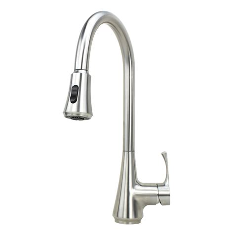 kitchen faucet nozzle ariel solid stainless steel lead free single handle pull