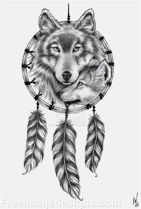 indian wolf tattoo designs wolf catcher image design free image
