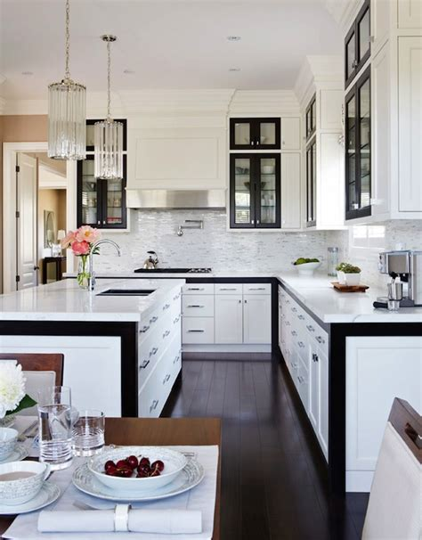 Black And White Kitchen Cabinets by Black And White Kitchen Design Contemporary Kitchen