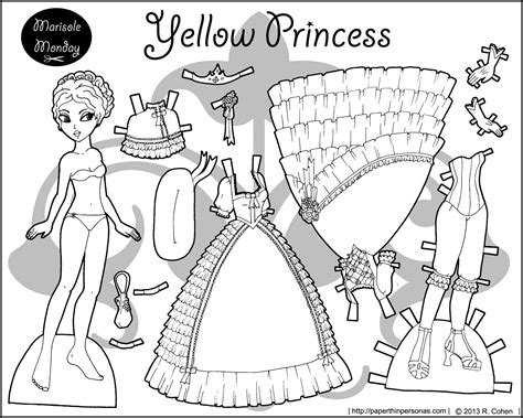 1000 Images About Paperdolls On Pinterest Printable Paper Princess Coloring Pages