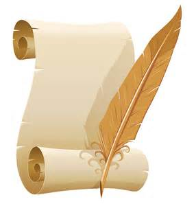 scrolled paper and quill pen png clipart image gallery