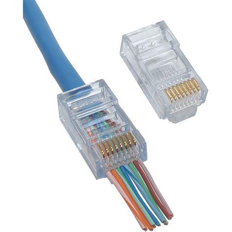 Connector Rj45 Cat 5e Isi 100 Pcs Pin Lan Konektor Rj 45 Rj 45 platinum tools ez rj45 cat 5 5e connector 100 pcs