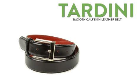 tardini smooth calfskin leather belt unfinished square