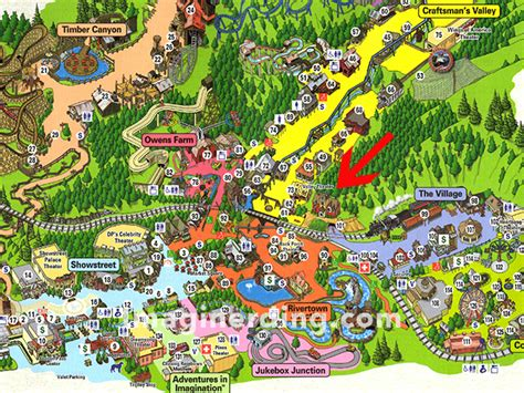 dollywood map what s that building on the hill at dollywood imaginerding