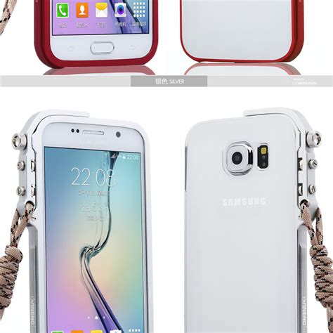 Wallet Leather Dompet Kulit Cover Armor Bumper Samsung Galaxy S6 kaneng mechanical arm trigger aluminum bumper metal frame cover f armor king