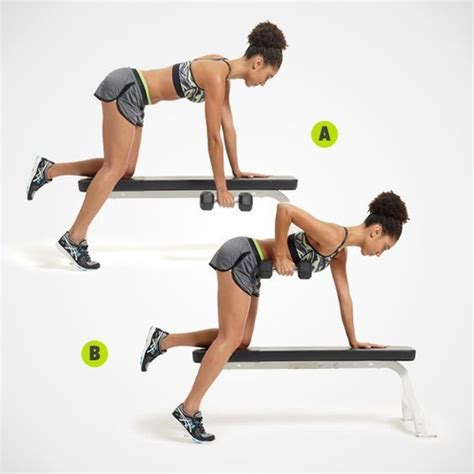 dumbbell rows on bench one arm bench dumbell row get strong with these upper