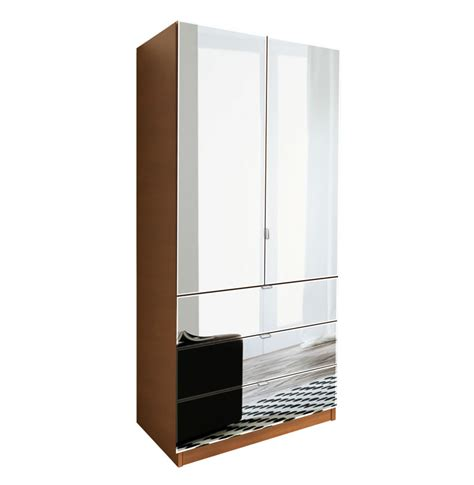 wardrobe armoire with mirror alta wardrobe armoire 3 external drawers contempo space