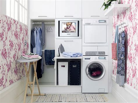 Decorated Laundry Rooms Laundry Room Decor Give The Room A Facelift Interior Design Inspiration