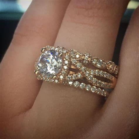 Wedding Bands Verragio by 25 Best Ideas About Stacked Wedding Bands On