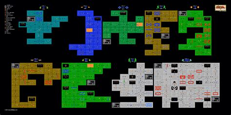 legend of zelda map of dungeons the legend of zelda dungeons 1q map poster 24 quot x12