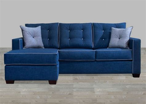 contemporary fabric sectionals contemporary style blue fabric sectional with pillow