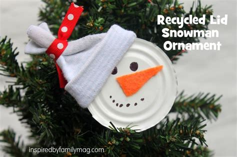 ornaments from recycled materials recycled ornament craft snowman inspired by
