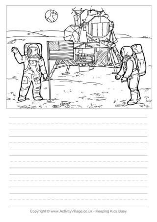 moon writing paper neil armstrong writing page