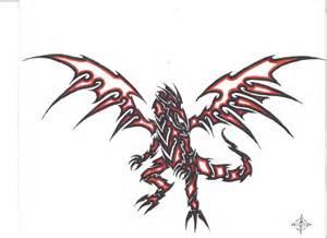 red eyes black dragon tribal by penryck13 on deviantart