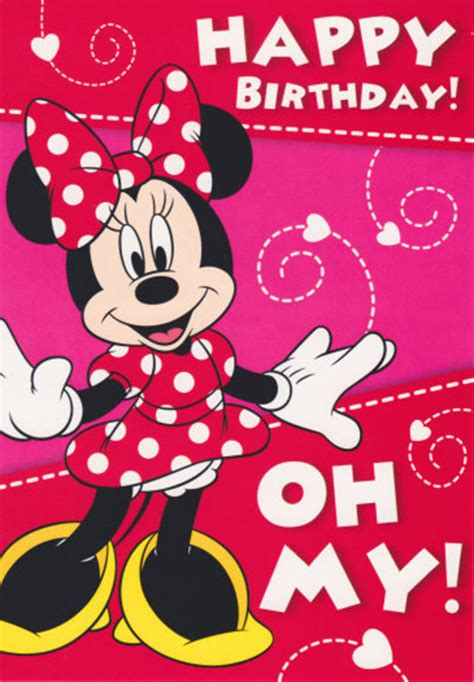 Mouse X7 Second disney minnie mouse birthday card 5x7 quot cardspark