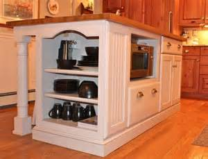 kitchen island with microwave home dec pinterest microwave in the island finally from thrifty decor chick