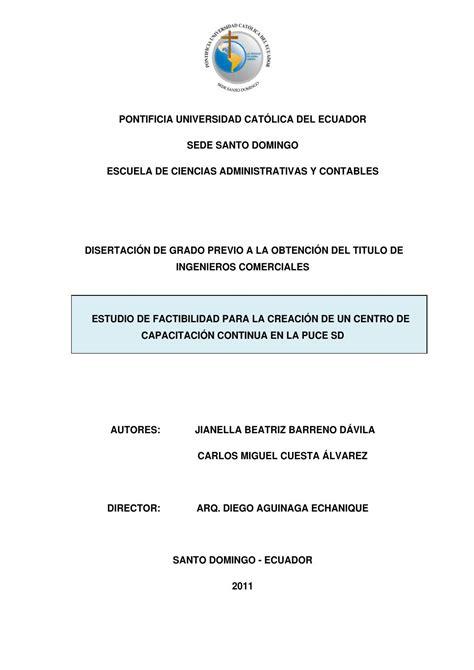 Modelo Curriculum Universidad Catolica Estudio De Factibilidad Para La Creaci 243 N De Un Centro De Capacitaci 243 N Continua En La Puce Sd By
