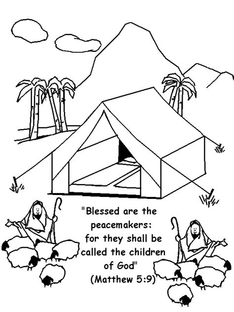 Coloring Page Matthew 5 by Matthew 5 9 Coloring Page Children S Chapel