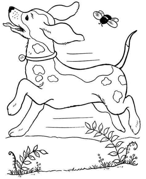 dog running coloring page dog running wild with a bee coloring page dog running