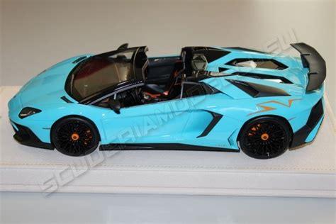 lamborghini aventador sv roadster baby blue mr collection 2015 lamborghini lamborghini aventador lp750 4 roadster sv baby blue oran baby