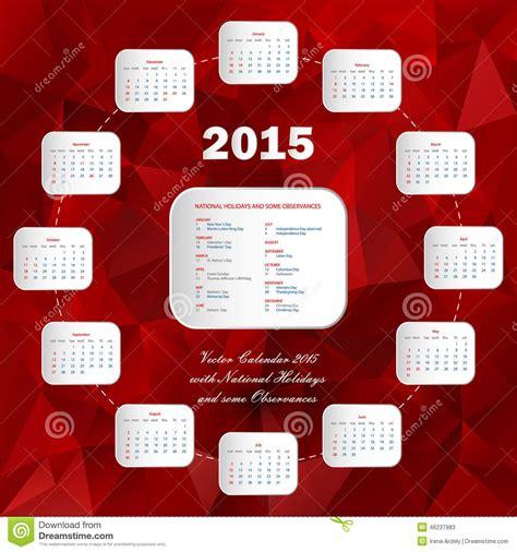 circle calendar template usa circle calendar 2015 stock vector image 46237983