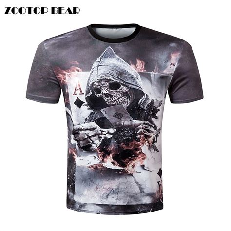 Tshirt Ordinal Typography 3 zootop new design skull print sleeve t shirt 3d t shirt casual breathable t