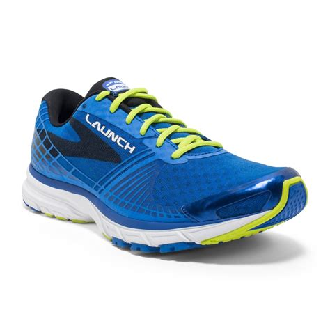 brook athletic shoes launch 3 mens running shoes blue lime