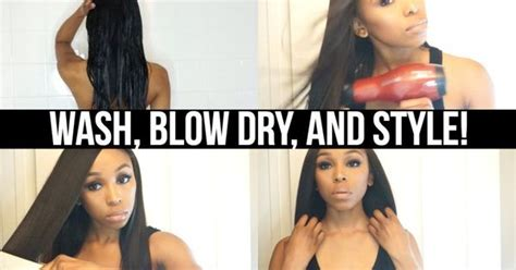 how to how i wash blow dry and braid my natural 4b 4c easy wash blow dry and style routine on extensions