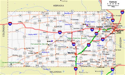 kansas state map maps kansas map with cities