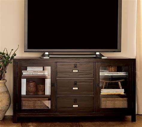 pottery barn media console rhys rhys media console from pottery barn do want