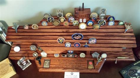 Navy Carrier Challenge Coin Display By Albcuttnwud