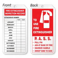 extinguisher inspection tag template plastic door tags sku tg 0250