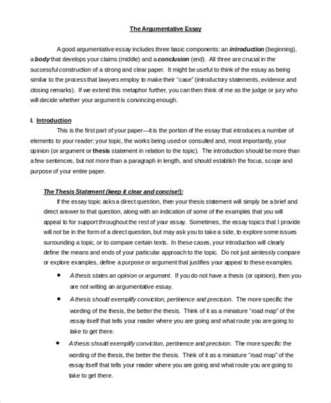Exle Of Argument Essay by Writing An Argument Essay