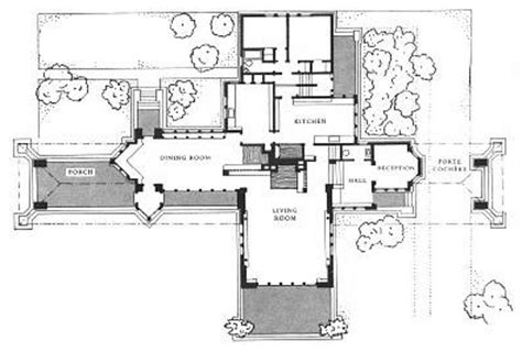 prairie house frank lloyd wright plan ward willits house plan 1901 highland park illinois prairie style frank lloyd
