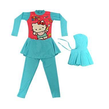 Baju Muslim Tk Syari Reina jual baby motif hello baju renang anak tk muslim tosca harga kualitas